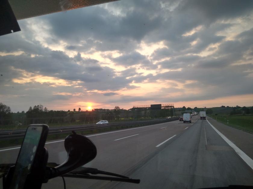 Niemiecka autostrada. I tak przez 12 godzin